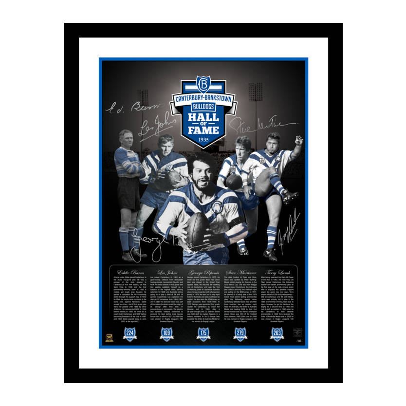 Hall of Fame Signed Print0